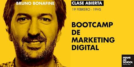 Marketing Digital [clase abierta] con Bruno Bonafine entradas
