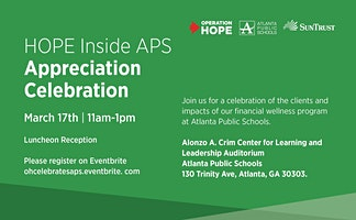 HOPE Inside APS Celebration Appreciation