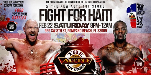 Fight for Haiti Night of Championship Boxing at the New Auto Toy Store