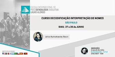 CURSO DECODIFICAÇÃO INTERPRETAÇÃO DE NOMES - S