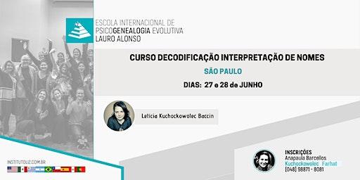CURSO DECODIFICAÇÃO INTERPRETAÇÃO DE NOMES - SÃO PAULO