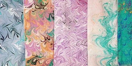 Watermarbling Silk Scarf Workshop tickets