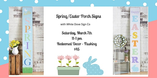 Spring/ Easter Porch Sign Workshop