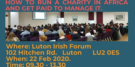 Start a charity in Africa and get paid to run it. tickets