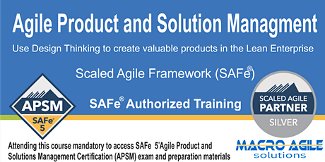SAFe® Agile Product and Solution Management (Guaranteed to Run) billets