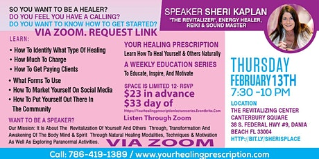 How to Start your own Healing Business 101- Via Zoom Live Stream 2-27 tickets