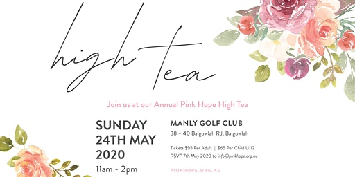 Pink Hope High Tea ~ Sydney 2020