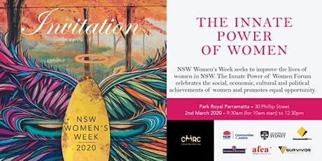 The Innate Power of Women Forum tickets