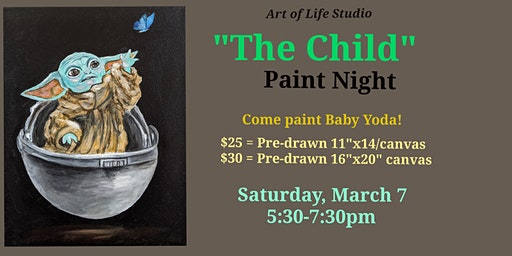 "Paint Night: ""The Child"" (Baby Yoda)"