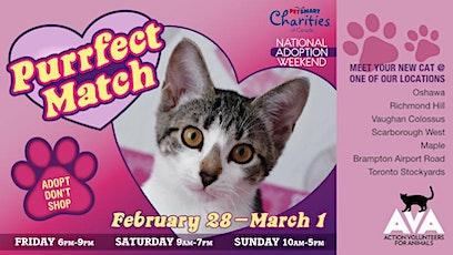 Purrfect Match - AVA Cats & PetSmart Adoption Weekend tickets