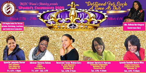 "MGBC Women's Conference 2020  ""Destined For Such A Time As This"""