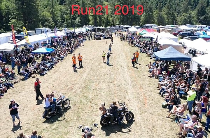 RUN 21 Turns 21. The West coast's largest & Favorite old school biker party image