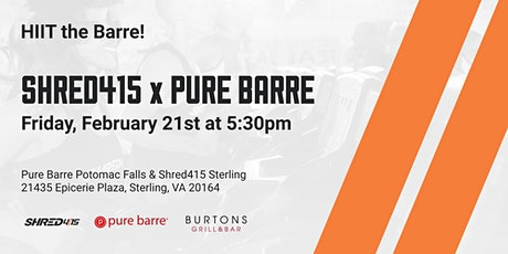 Shred415 x Pure Barre tickets