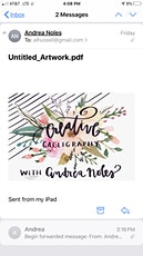 Creative Calligraphy with Andrea tickets