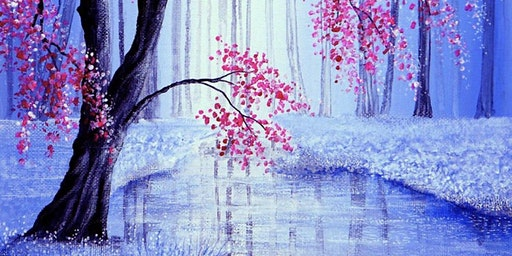 Cherry Blossom Stream Paint Party