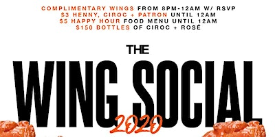 It's Back!! The Famous Wing Social at Stadium Club 8pm-12am