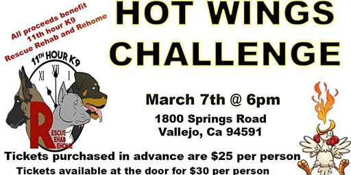 11th Hour K9 Rescue - Hot Wings Challenge