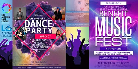 """TBF Presents: """"One Love Fur All"""", a LGBT + Pawsitive Benefit Music Festival tickets"""