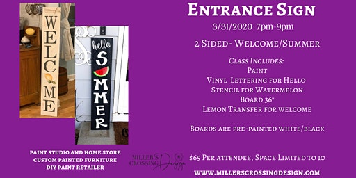 Welcome/Summer Sign
