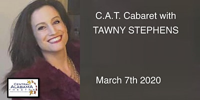 """CAT CABARET 2020 with  """"TAWNY STEPHENS... Everything I Am, in song""""!"""