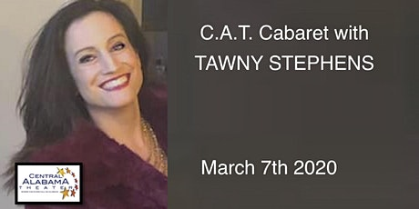 """CAT CABARET 2020 with  """"TAWNY STEPHENS... Everything I Am, in song""""!  tickets"""