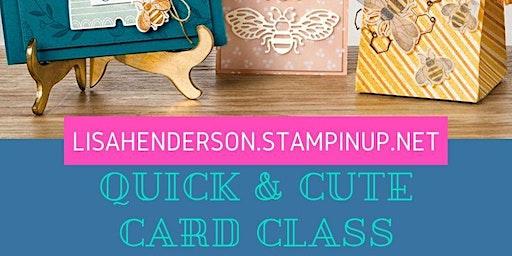 Quick & Cute Card Class