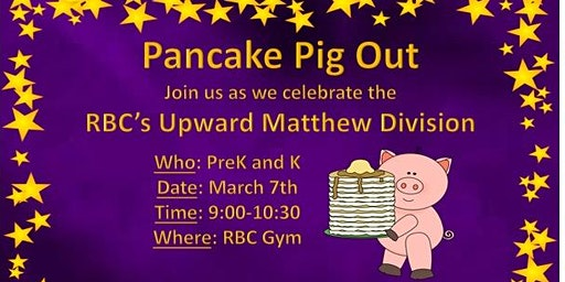 2020 Upward Banquet Pancake Pig Out
