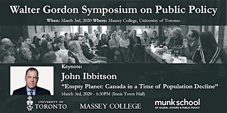 2020 Walter Gordon Symposium on Public Policy tickets