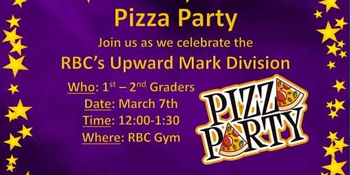 2020 Upward Banquet Pizza Party
