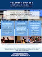 Summer Principals Academy Informational Social