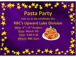 2020 Upward Banquet Pasta Party