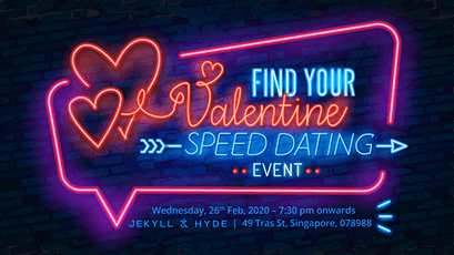 Find Your Valentine Speed Dating @ Jekyll & Hyde Bar tickets