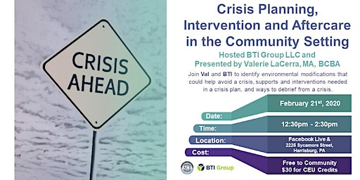 Crisis Planning, Interventions and Aftercare in the Community Setting
