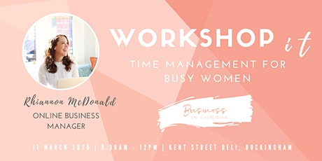 Time Management for Busy Women tickets