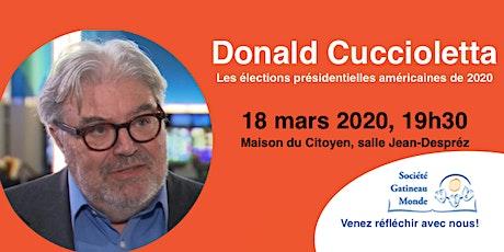 Conférence de Donald Cuccioletta tickets