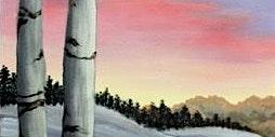 Winter Birch Tree Paint Night