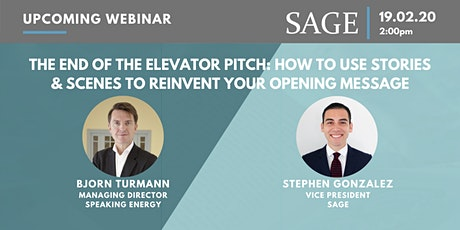 The End of the Elevator Pitch: How to use stories to reinvent your opening tickets
