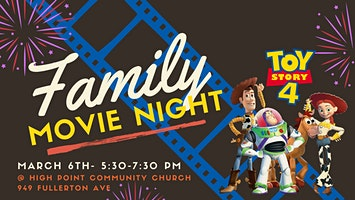 High Point's Family Movie Night- Toy Story 4