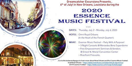 Dreamcatcher Excursions - 2020 Essence Music Festival - Hotel Packages tickets