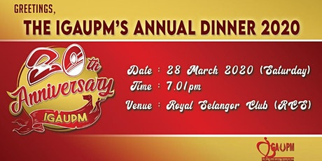 IGAUPM Annual Dinner 2020 tickets