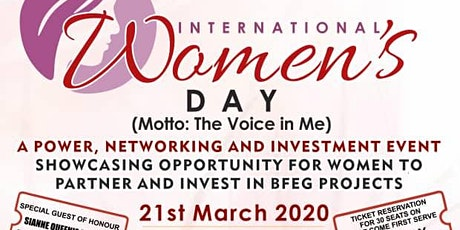 INTERNATIONAL WOMEN'S DAY AND POWER NETWORKING EVENT tickets