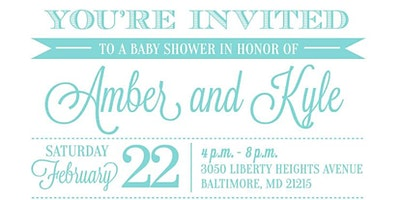 Amber & Kyle's baby shower