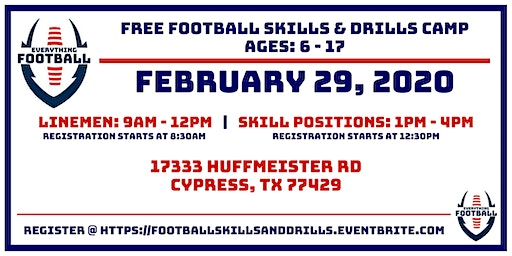 EVERYTHING FOOTBALL: FREE FOOTBALL  SKILLS & DRILLS CAMP