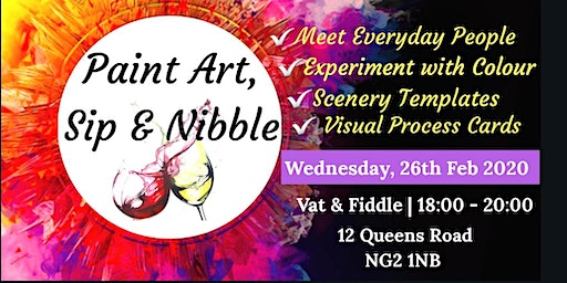 Paint, Sip & Nibble Nottingham - Social Painting with a Twist!