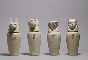 Holiday Art Class for Kids–Egyptian Curiosities–Clay Canopic Jars