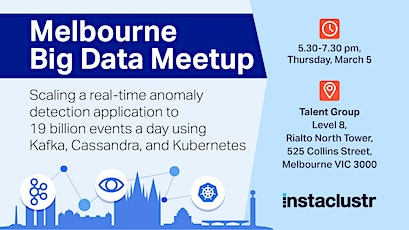 Melbourne Big Data Meetup-Realtime Anomaly Detection with Cassandra & Kafka tickets
