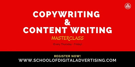 COPYWRITING & CONTENT WRITING MASTERCLASS tickets