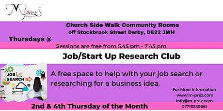 Job/Start Up Research Club M-prez Thursday tickets