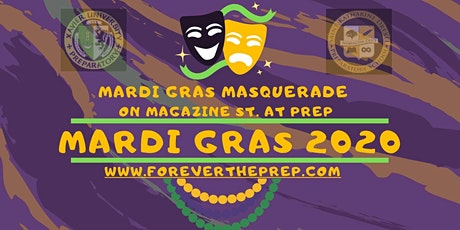 Tax Deductible Donation for Mardi Gras Masquerade on Magazine St at Prep tickets