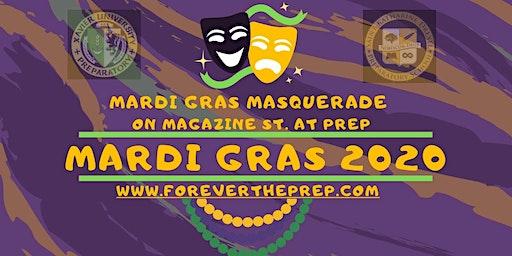 Tax Deductible Donation for Mardi Gras Masquerade on Magazine St at Prep